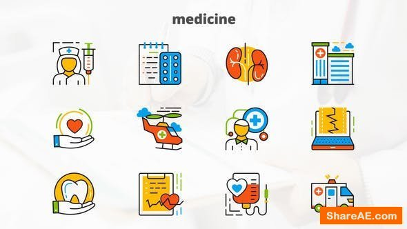 Videohive Medicine And Healthcare - Flat Animated Icons