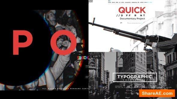 Videohive Typographic Documentary Promo