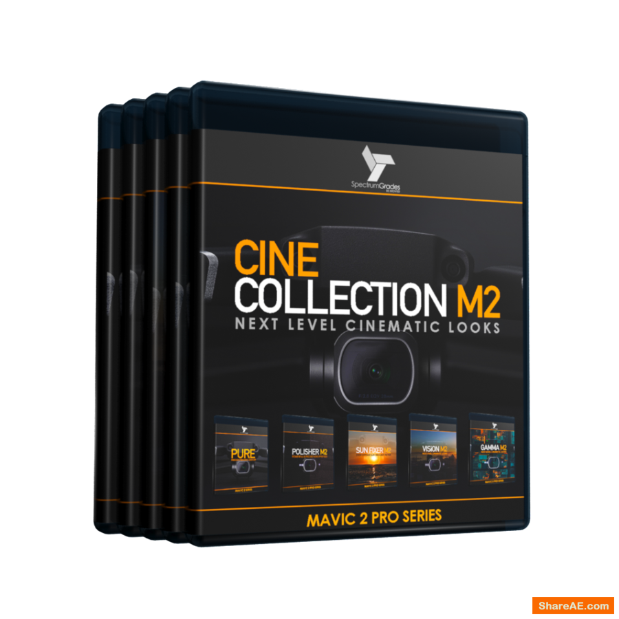 CINE COLLECTION M2 - DJI MAVIC 2 PRO LUTS & TOOLS SET - GAMMA M2, VISION M2, PURE, SUN FIXER, POLISHER M2 - Spectrum Grades