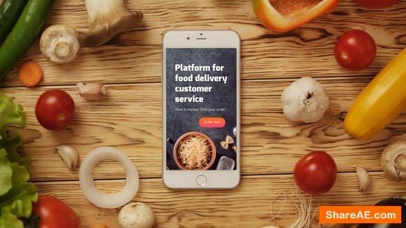 Videohive Food App Logo Reveal