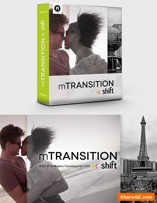 mTransition Shift - 50 Modern Transitions for Final Cut Pro X  - MotionVFX