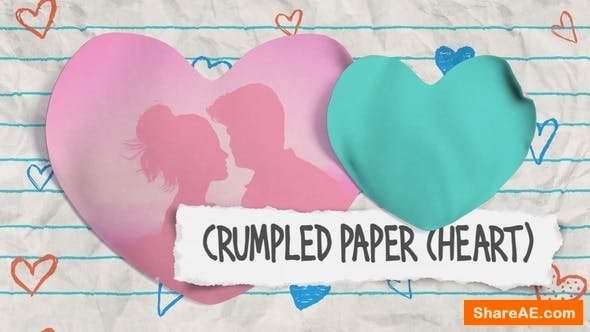Videohive Crumpled Paper (Heart)