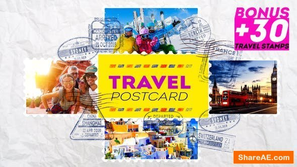 Videohive Travel Postcard