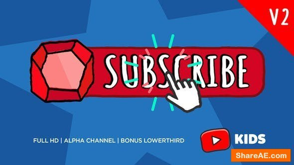 Videohive Youtube KIDS Subscribe Button