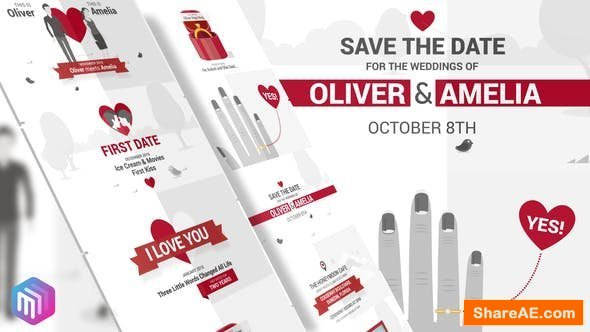 Videohive Save The Date - Video Wedding Invitation