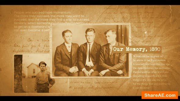 Videohive Documentary Historical Slideshow