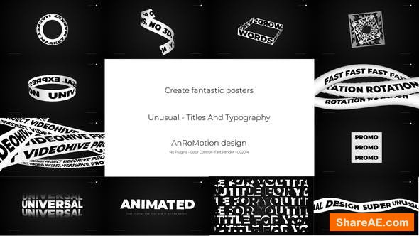 Videohive Unusual - Titles And Typography