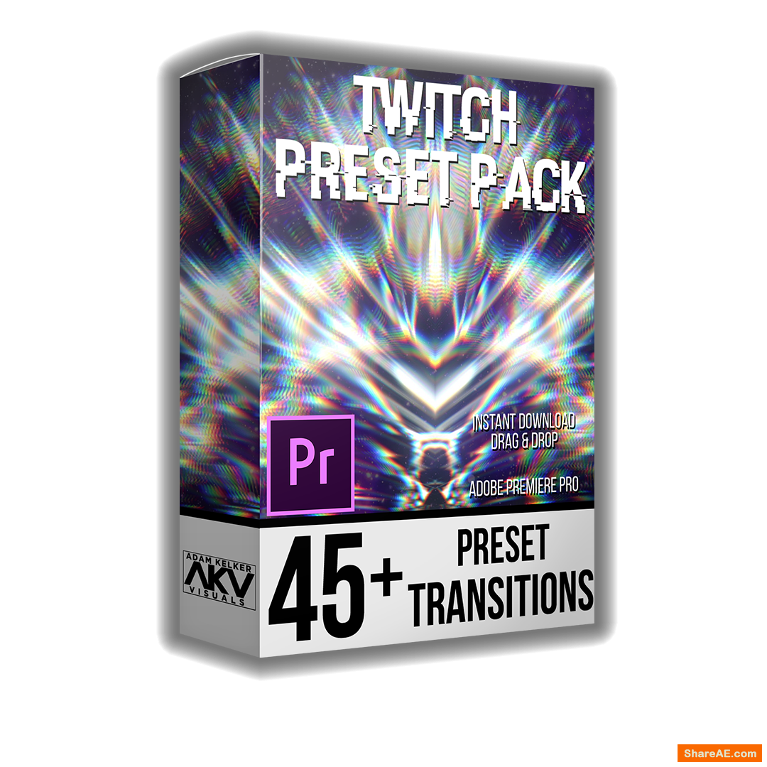 Twitch Transition Preset Pack - akvstudios