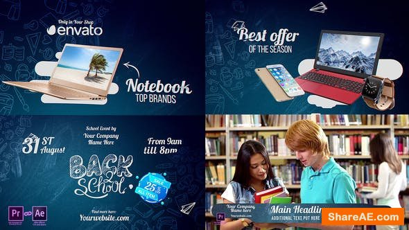 Videohive Back2School Pack 2018