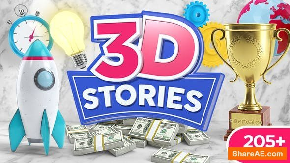 Videohive 3D STORIES | Icons Explainer Toolkit v2