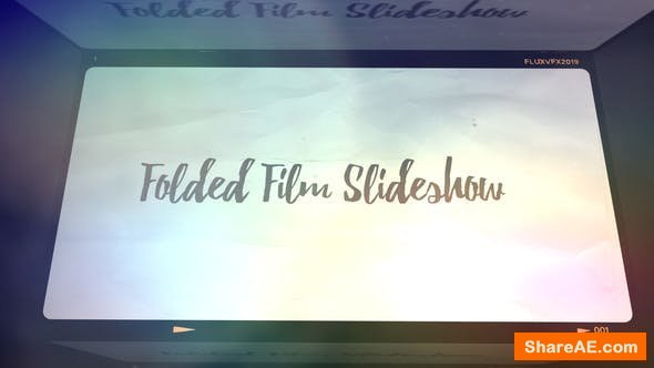Videohive Folded Film Slideshow