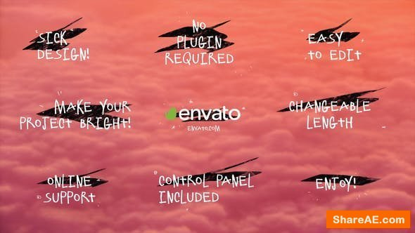 Videohive Drawn Titles Pack