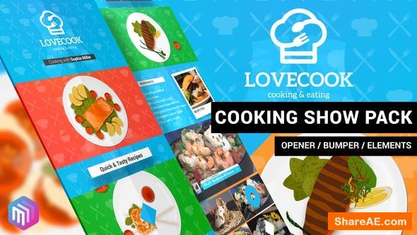 Videohive Love Cook - Cooking Show Pack