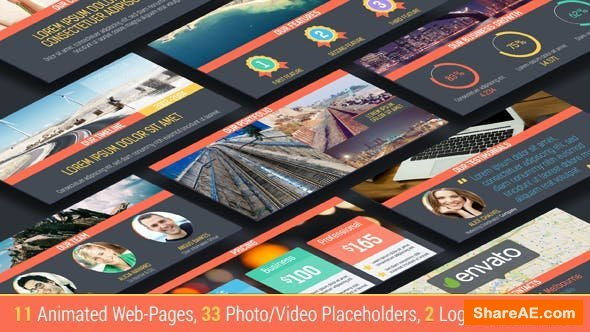 Videohive Parallax Website Presentation
