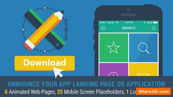 Videohive Mobile App Landing Page Promo