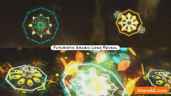 Videohive Futuristic Arabic Logo Reveal