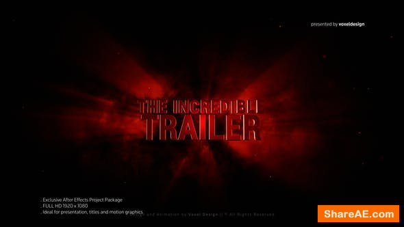 Videohive Incredible 3D Title