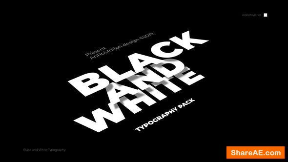 Videohive Black And White - Titles And Typography