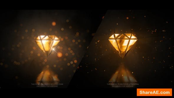 Videohive Gold Glossy Luxury Logo