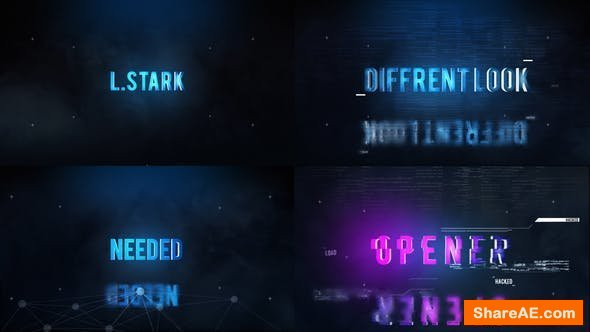 Videohive Hi-Tech Titles Opener