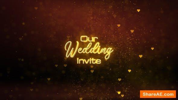 Videohive Wedding Invitation Titles