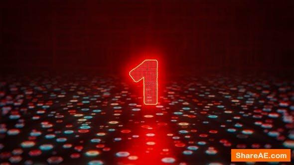 Videohive Glitch Countdown Logo
