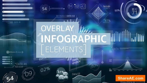 Videohive Overlay Infographic Elements