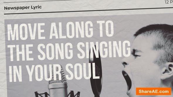 Videohive Newspaper Lyric