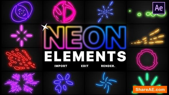 Videohive Neon Elements | After Effects
