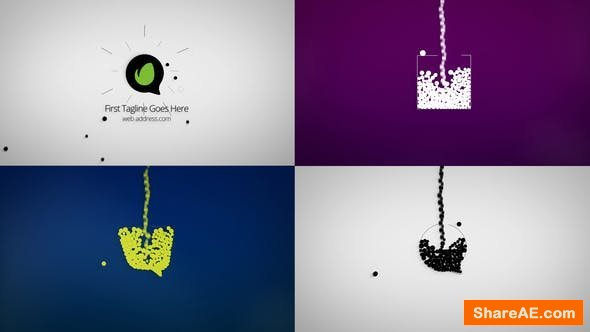 Videohive Dynamic Minimal Logo Reveals Set