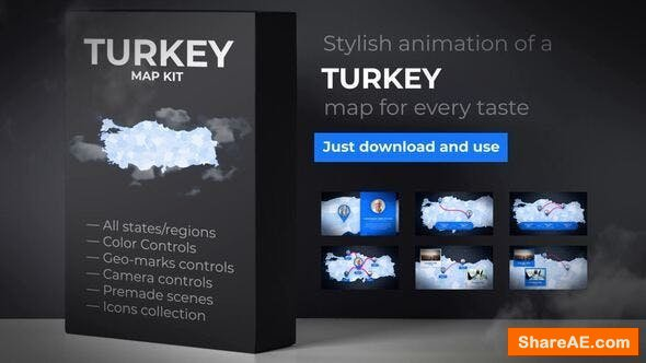 Videohive Turkey Map - Republic of Turkey Map Kit