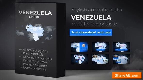 Videohive Venezuela Map - Bolivarian Republic of Venezuela Map Kit