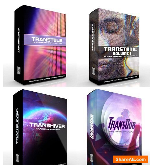 Film Distrtion Effects Bundle Vol.1 for Final Cut Pro X - Pixel Fim Stuios