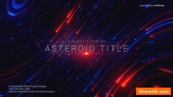 Videohive Asteroid Cinematic Title