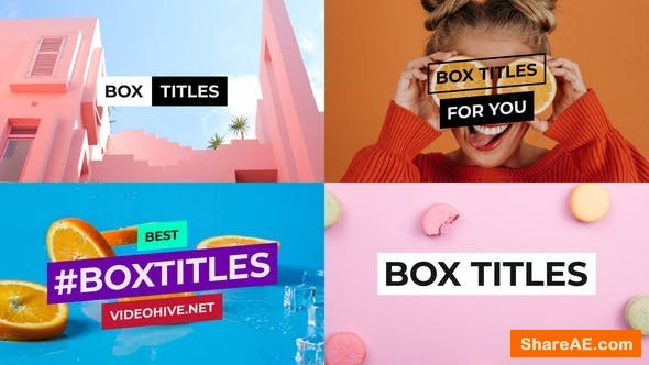 Videohive BOX Titles and Lower Thirds for After Effects