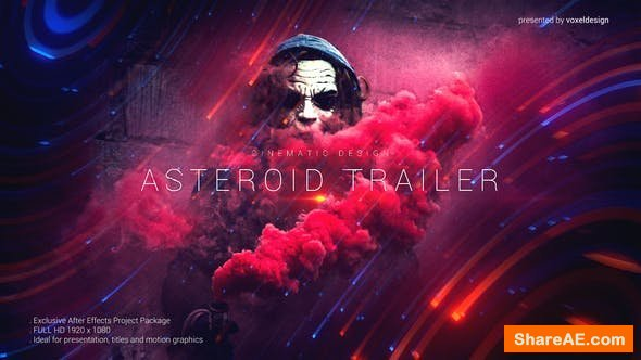 Videohive Asteroid Cinematic Trailer