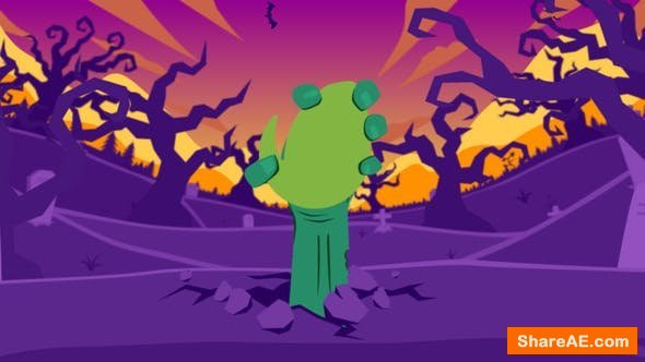 Videohive Halloween Cartoon Logo