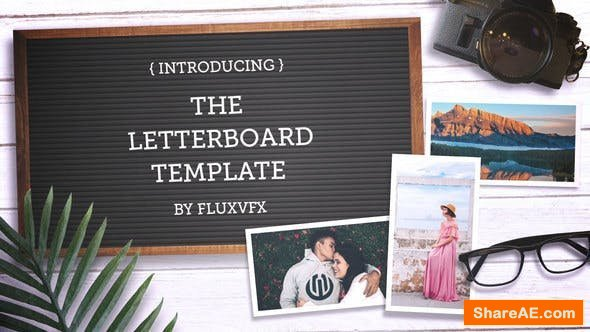 Videohive Letter Board Flat Lay Kit