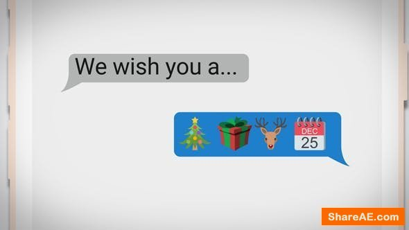 Videohive Text Messaging Holiday Greeting