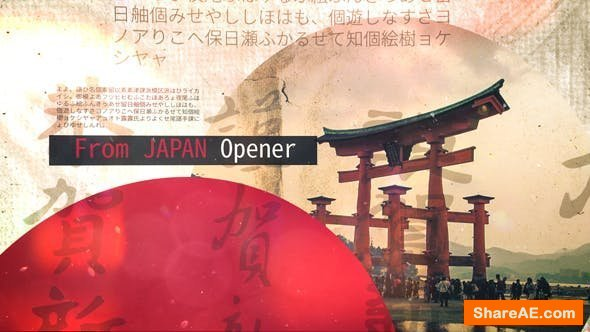 Videohive From Japan Opener