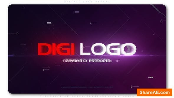 Videohive Digital Logo Reveal 23733547