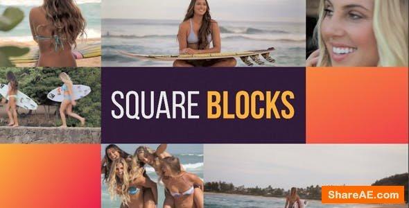 Videohive Square Blocks Opener