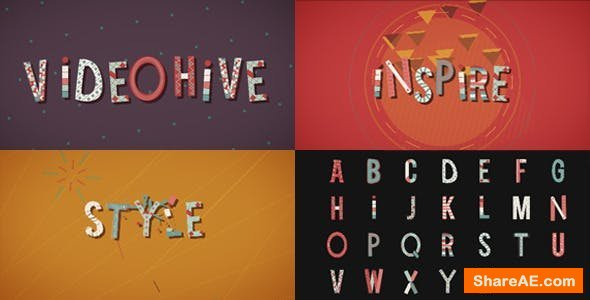 Videohive Wonder Letters