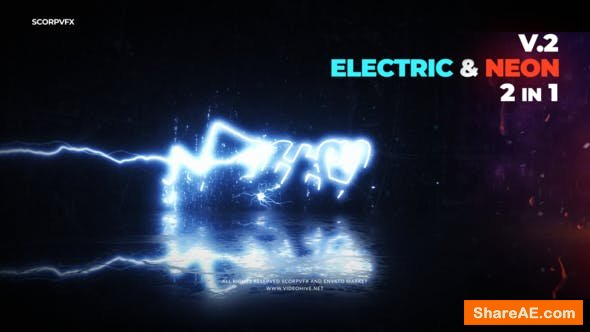 Videohive Electric and Neon Logo Reveal