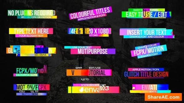 Videohive Colourful Glitch Titles 2 - Final Cut Pro