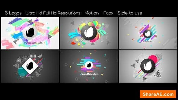 Videohive Abstract Logos - Final Cut Pro