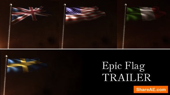 Videohive Epic Flag Trailer