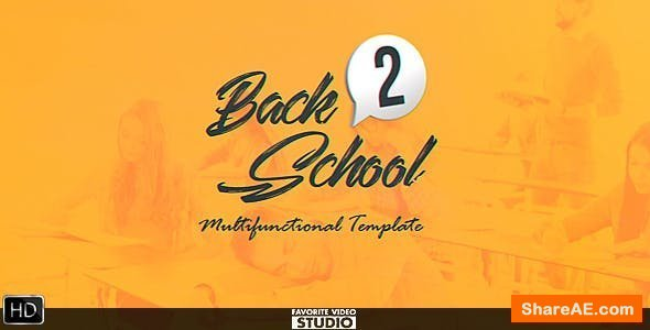 Videohive Back 2 School Broadcast Pack