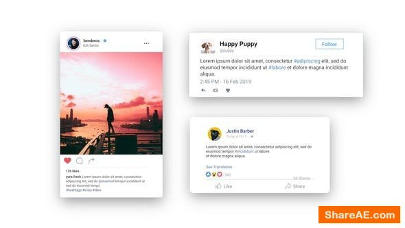 Videohive Facebook Twitter Instagram - Animated Posts