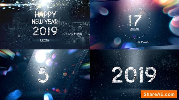 Videohive New Year Diamond Countdown